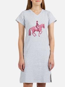 Pink Dressage Horse Women's Nightshirt