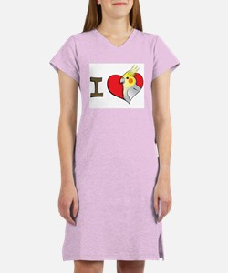 I heart cockatiels Women's Nightshirt