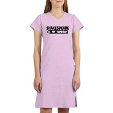Shakespeare is my Homeboy Women's Nightshirt