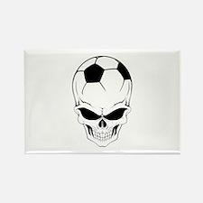 Soccer skull Rectangle Magnet