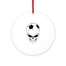 Soccer skull Ornament (Round)