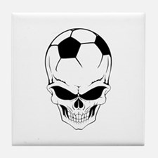Soccer skull Tile Coaster