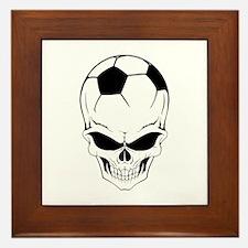 Soccer skull Framed Tile