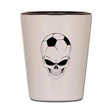Soccer skull Shot Glass