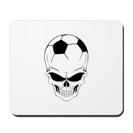 Soccer skull Mousepad