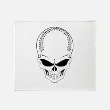 Baseball skull Throw Blanket
