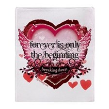 Breaking Dawn Forever by Twibaby Throw Blanket