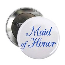 Maid of Honor (blue) Button