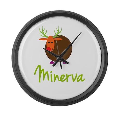 Minerva the Reindeer Large Wall Clock