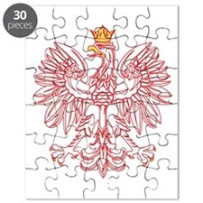 Polish Eagle Outlined In Red Puzzle