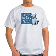 Dog Is Friendly Ash Grey T-Shirt