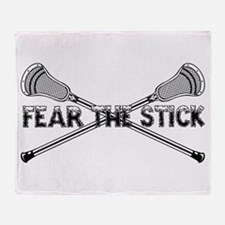 Lacrosse Fear the Stick Throw Blanket