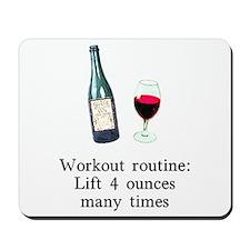 Workout Routine 4 ounces Mousepad