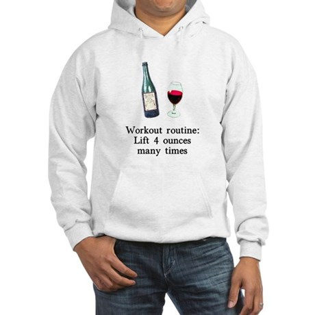 Workout Routine 4 ounces Hooded Sweatshirt