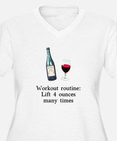Workout Routine 4 ounces T-Shirt