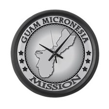 Guam Micronesia LDS Mission Large Wall Clock