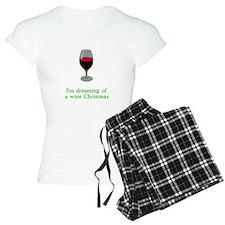 Dreaming of a Wine Christmas Pajamas