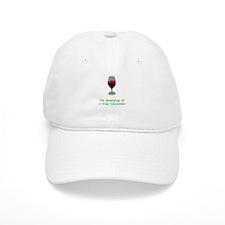 Dreaming of a Wine Christmas Baseball Cap