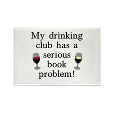 My Drinking Club Rectangle Magnet
