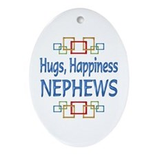 Nephew Hugs Ornament (Oval)
