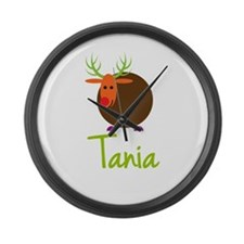 Tania the Reindeer Large Wall Clock