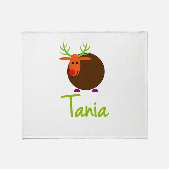 Tania the Reindeer Throw Blanket