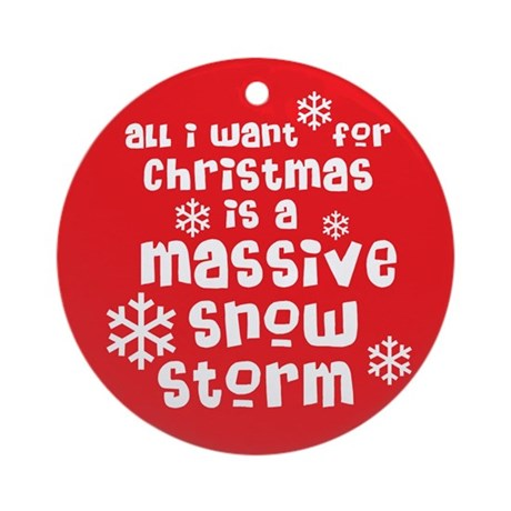 All I Want For Christams Ornament (Round)