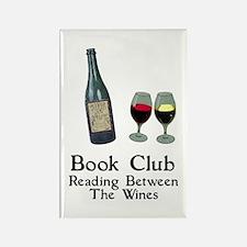 Reading Between Wines Rectangle Magnet