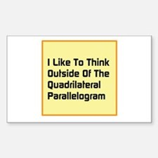 Quadrilateral Parallelogram Decal