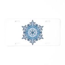 Snowflake 21 Aluminum License Plate