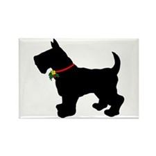 Scottish Terrier Silhouette Rectangle Magnet