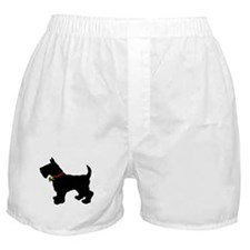 Scottish Terrier Silhouette Boxer Shorts