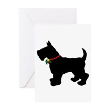Scottish Terrier Silhouette Greeting Card