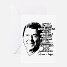 "Reagan ""Outlaw Russia Forever"" Greeting Card"