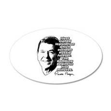 """Reagan """"Outlaw Russia Forever"""" 22x14 Oval Wall Pee"""