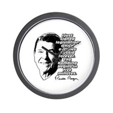 """Reagan """"Outlaw Russia Forever"""" Wall Clock"""