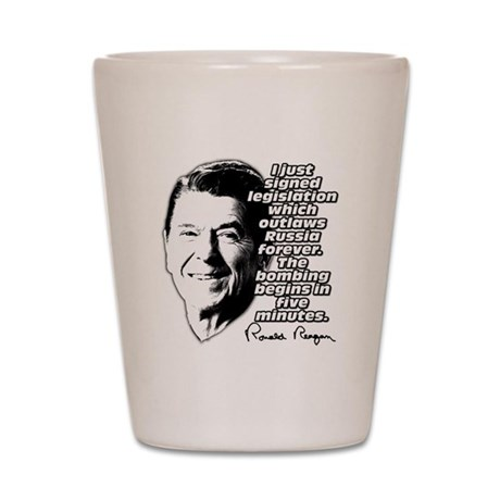 "Reagan ""Outlaw Russia Forever"" Shot Glass"