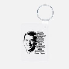 """Reagan """"Outlaw Russia Forever"""" Keychains"""