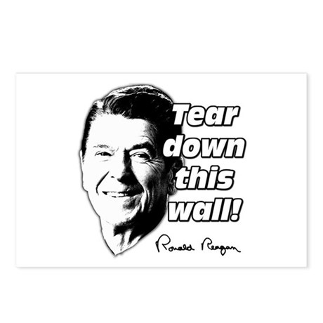 "Reagan Quote ""Tear Down This Wall"" Postcards (Pack"