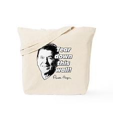 "Reagan Quote ""Tear Down This Wall"" Tote Bag"