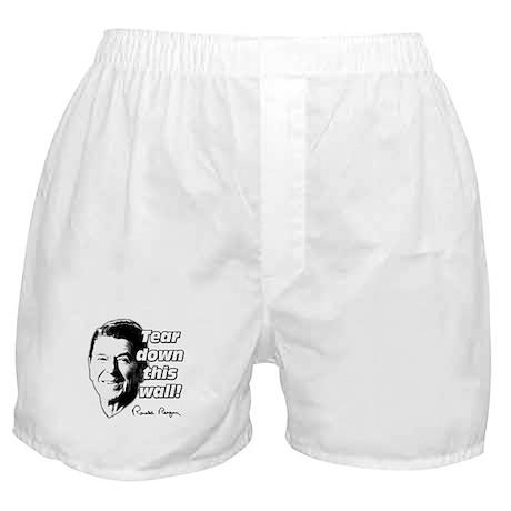 "Reagan Quote ""Tear Down This Wall"" Boxer Shorts"