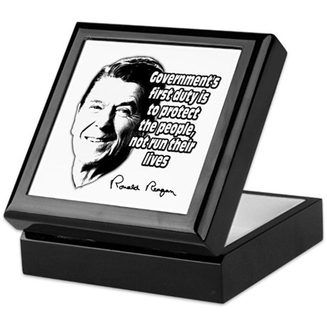 """Reagan Quote """"Protect people, not run their lives"""""""