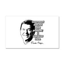 Reagan Quote Government Subsidizes Problems Car Ma