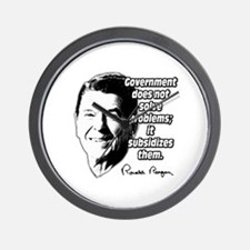 Reagan Quote Government Subsidizes Problems Wall C