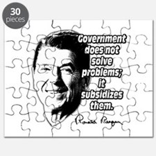 Reagan Quote Government Subsidizes Problems Puzzle