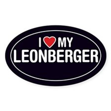 I Love My Leonberger Oval Sticker/Decal