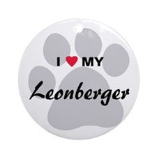 I Love My Leonberger Ornament (Round)