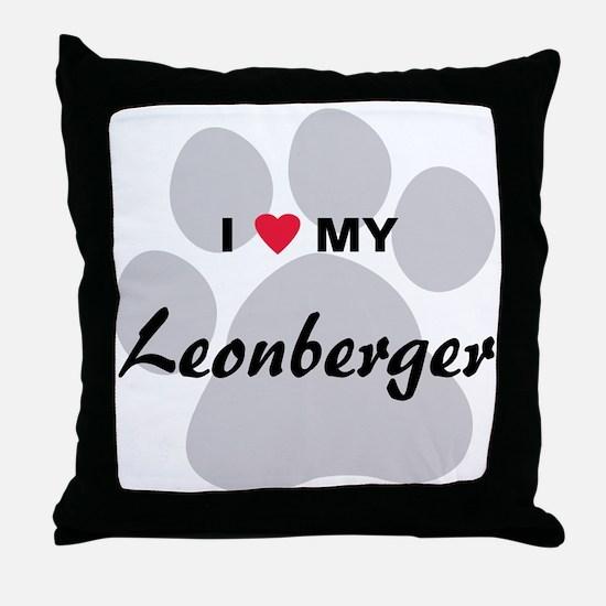 I Love My Leonberger Throw Pillow