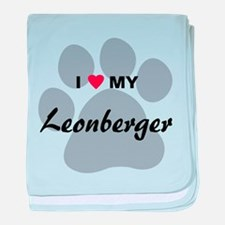 I Love My Leonberger baby blanket