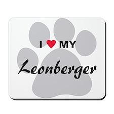 I Love My Leonberger Mousepad